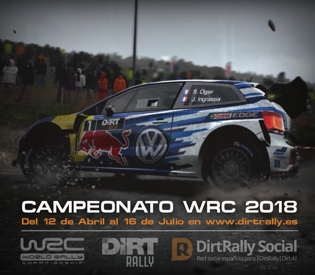 campeonato wrc dirt rally 2018